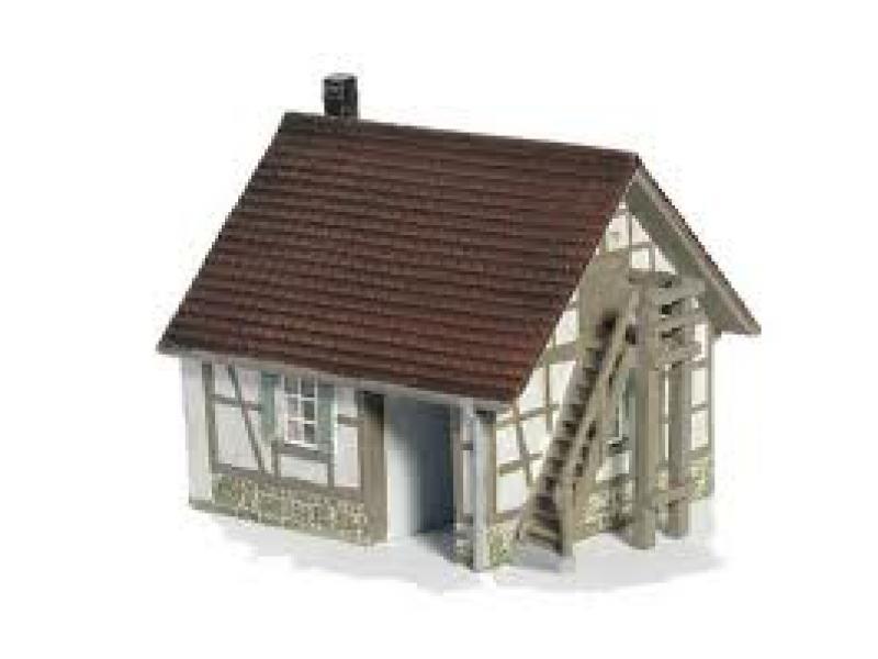 Kleines Gerätehaus Kleiner Geräteschuppen Gartenhaus Fertigmodell Aus Resin  HO 1:87. Maße: Länge: Ca. 7,0 Cm. Höhe: Ca. 6,0 Cm. Tiefe: Ca. 5,0cm