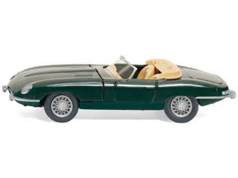 Modellbau Jaguar ~ Jaguar e type cabrio grün wiking modellbau 081705